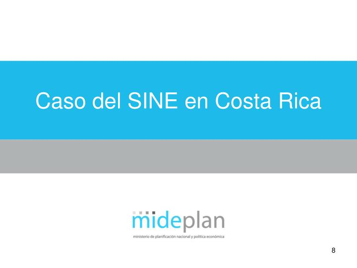 Caso del SINE en Costa Rica