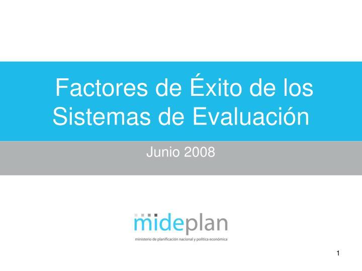 factores de xito de los sistemas de evaluaci n