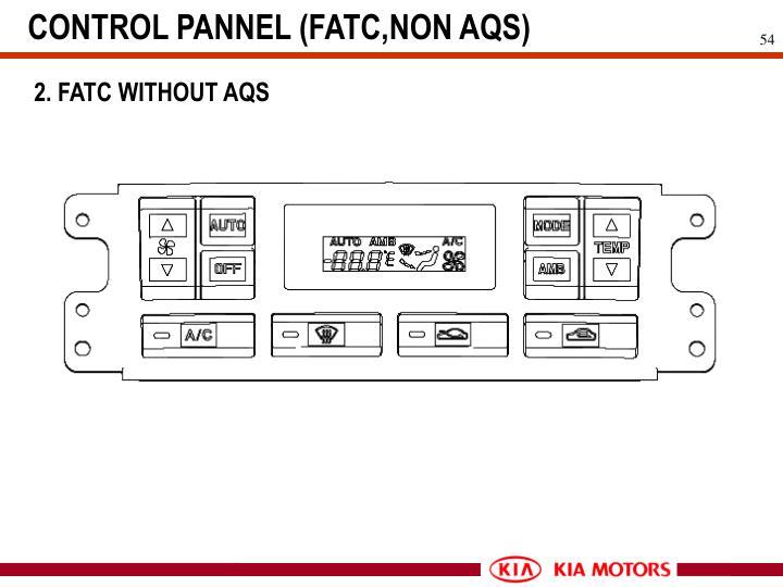 CONTROL PANNEL (FATC,NON AQS)