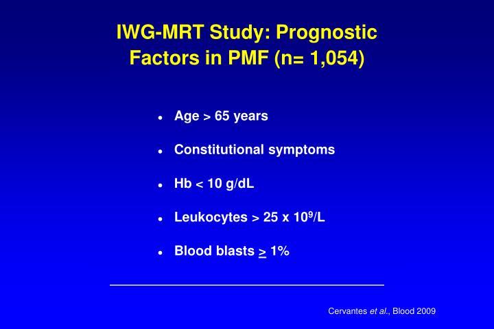 IWG-MRT Study: Prognostic