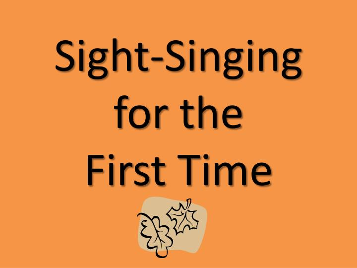 Sight-Singing