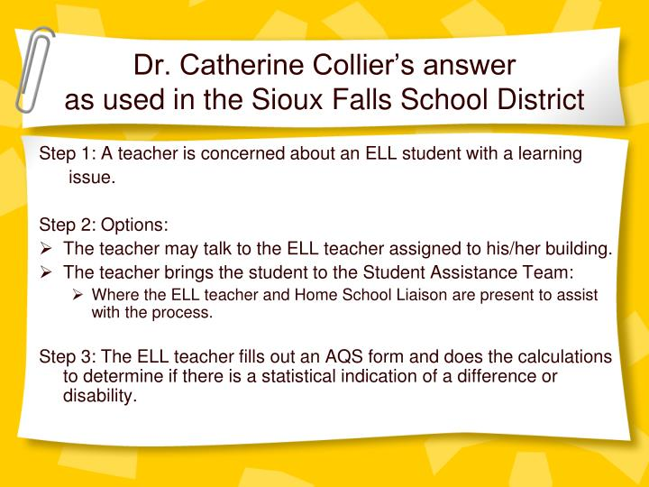 Dr. Catherine Collier's answer