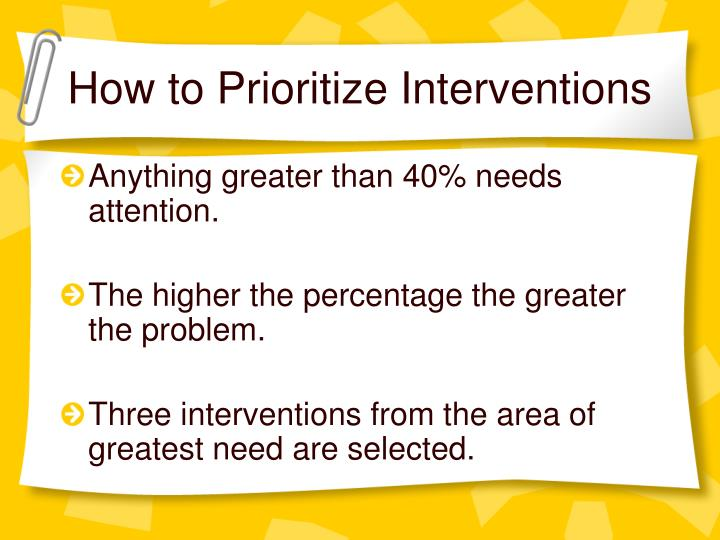 How to Prioritize Interventions