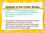 updates to the collier binder