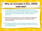 why an increase in ell sped referrals1