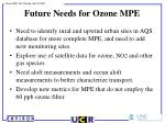future needs for ozone mpe