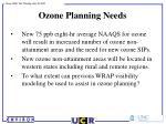 ozone planning needs