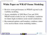 white paper on wrap ozone modeling