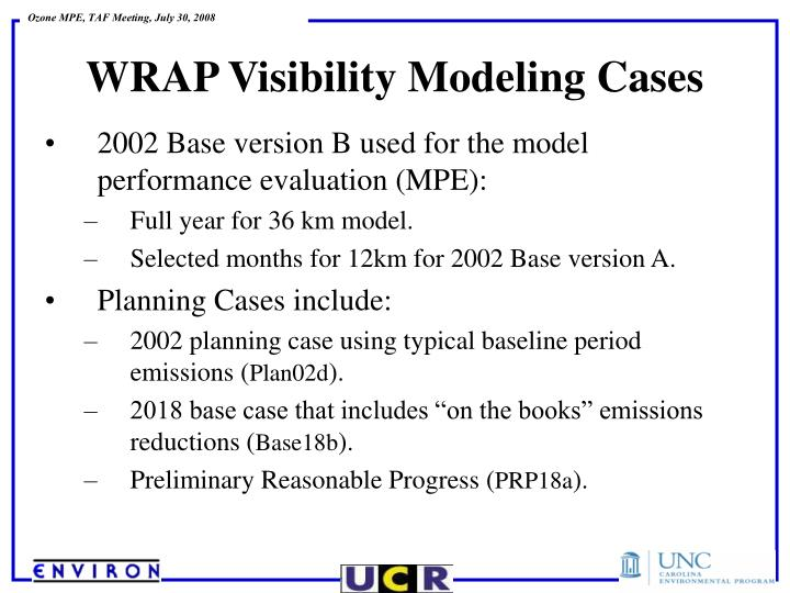 2002 Base version B used for the model performance evaluation (MPE):