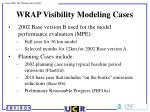 wrap visibility modeling cases