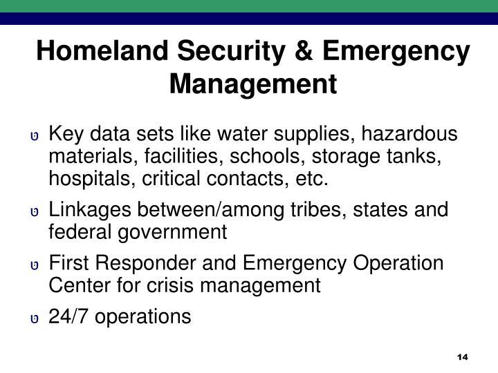 Homeland Security & Emergency Management