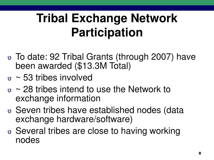Tribal Exchange Network Participation