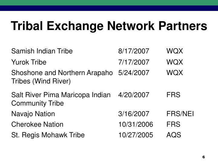 Tribal Exchange Network Partners