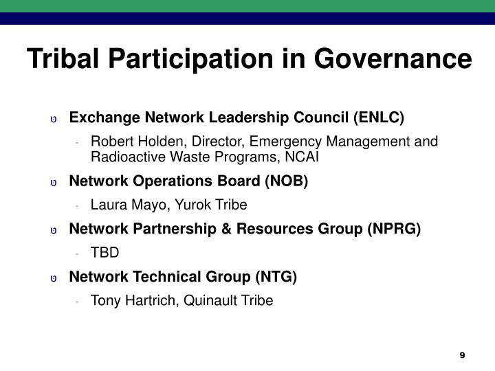 Tribal Participation in Governance