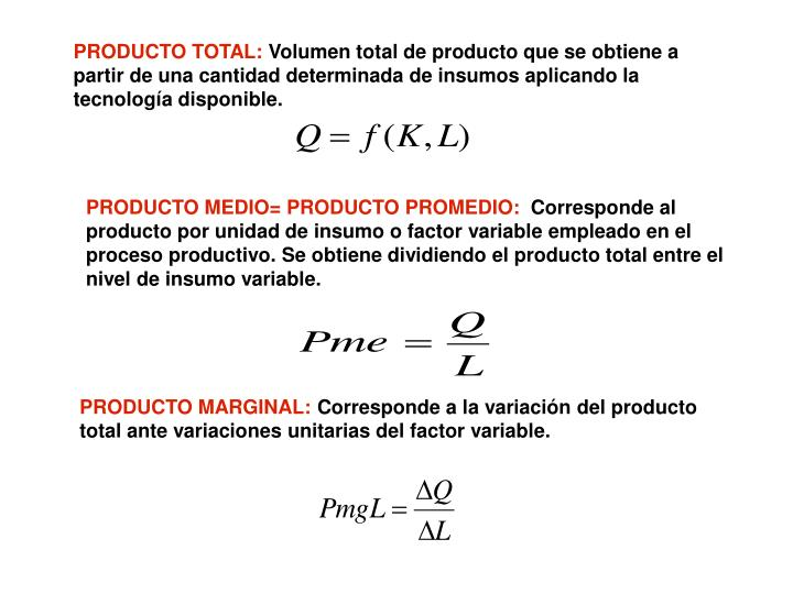 PRODUCTO TOTAL: