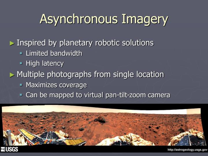 Asynchronous Imagery