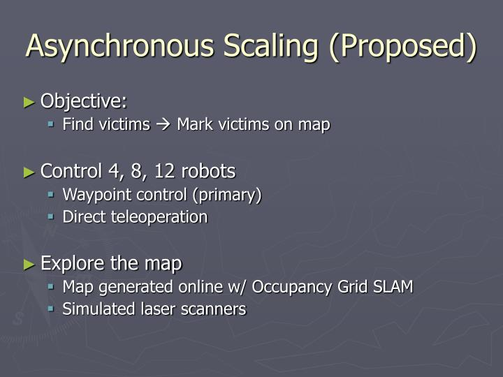 Asynchronous Scaling (Proposed)