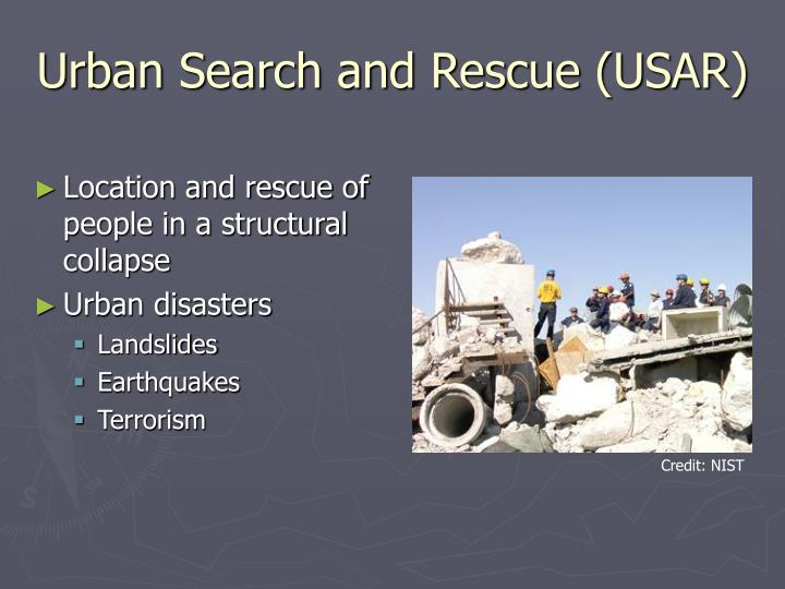 Urban search and rescue usar