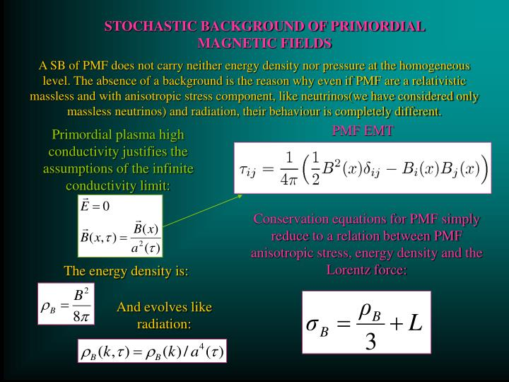 STOCHASTIC BACKGROUND OF PRIMORDIAL MAGNETIC FIELDS
