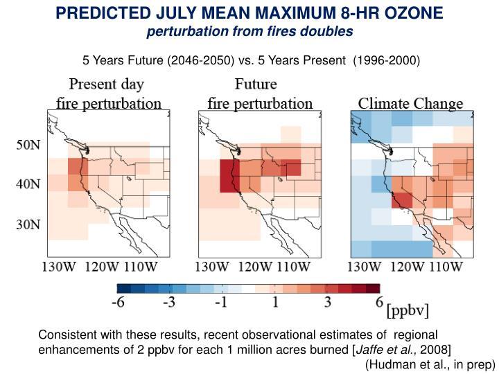 PREDICTED JULY MEAN MAXIMUM 8-HR OZONE