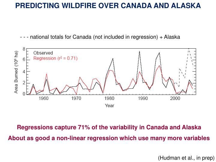 PREDICTING WILDFIRE OVER CANADA AND ALASKA