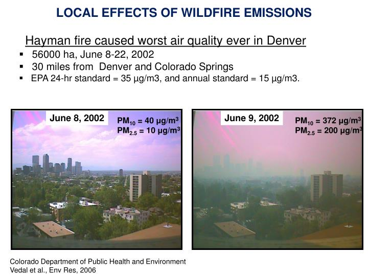LOCAL EFFECTS OF WILDFIRE EMISSIONS