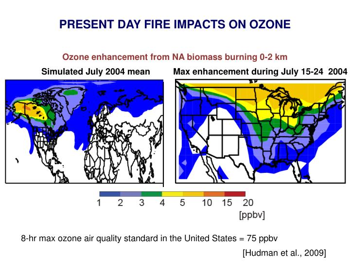 PRESENT DAY FIRE IMPACTS ON OZONE