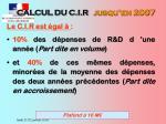 calcul du c i r jusqu en 2007