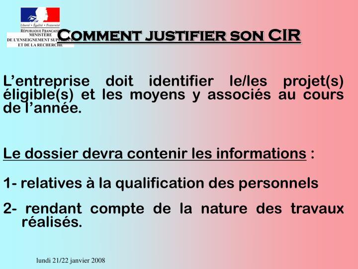 Comment justifier son CIR