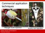 commercial application techniques1