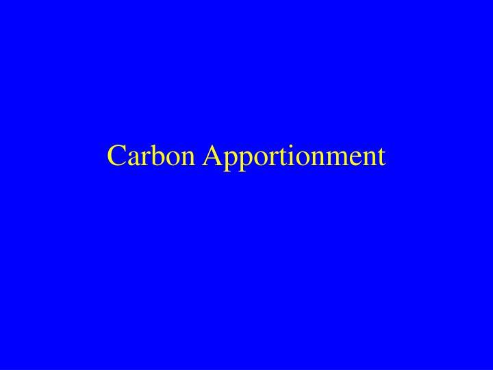 Carbon Apportionment