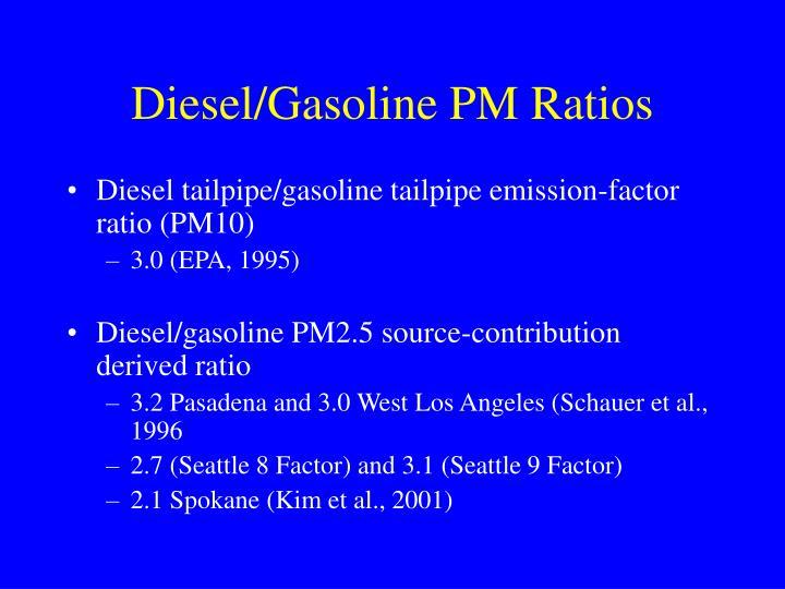 Diesel/Gasoline PM Ratios