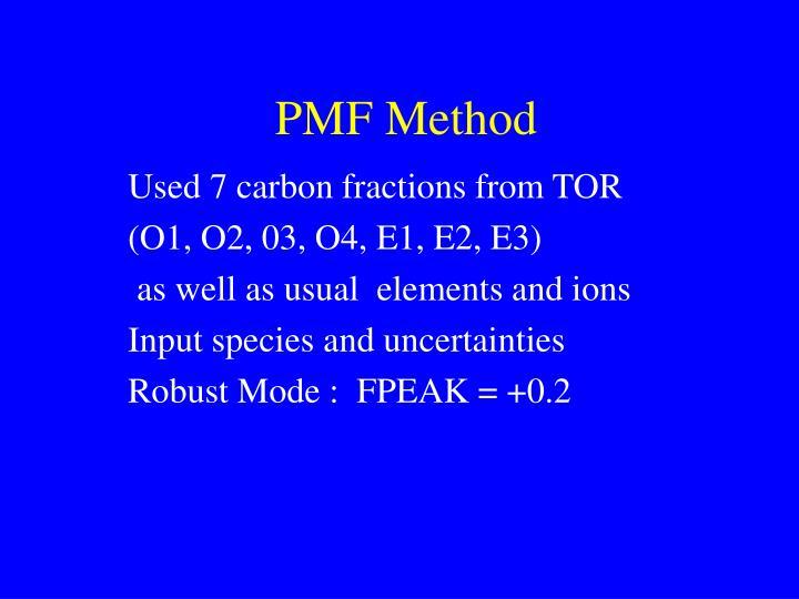 PMF Method