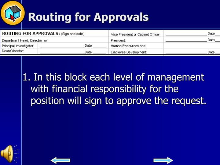 Routing for Approvals