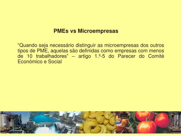 PMEs vs Microempresas
