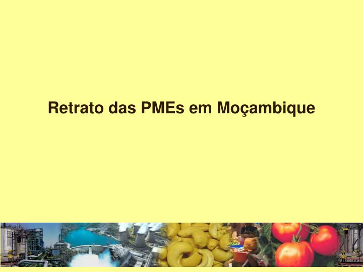 Retrato das PMEs em Moçambique