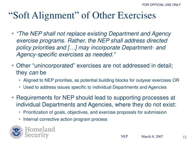 """""""Soft Alignment"""" of Other Exercises"""