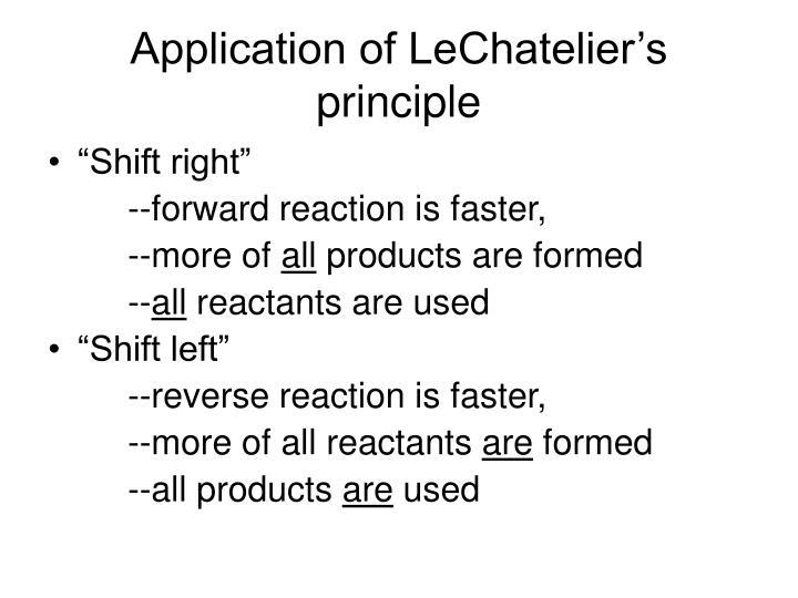 Application of LeChatelier's principle