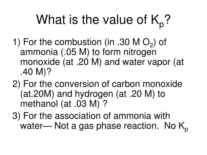 What is the value of K