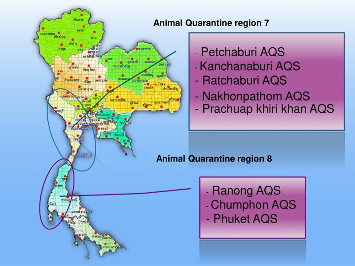 Animal Quarantine region 7
