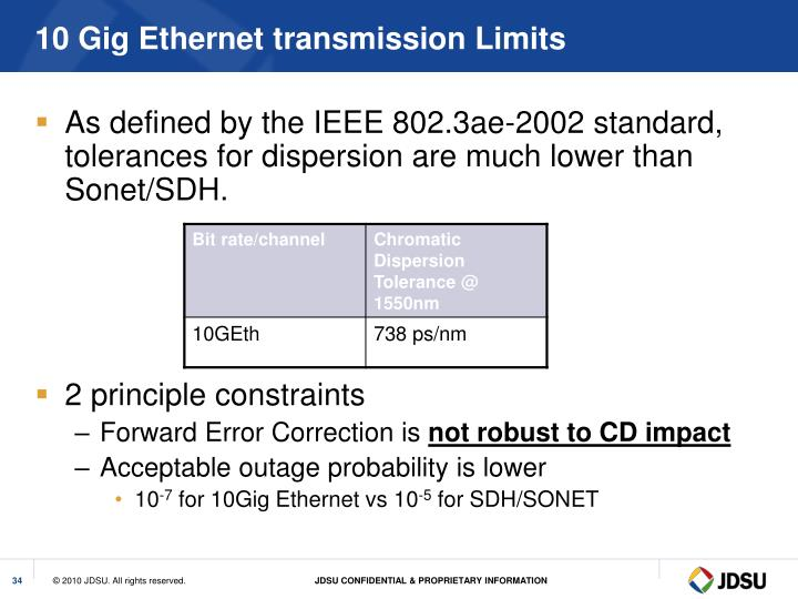10 Gig Ethernet transmission Limits