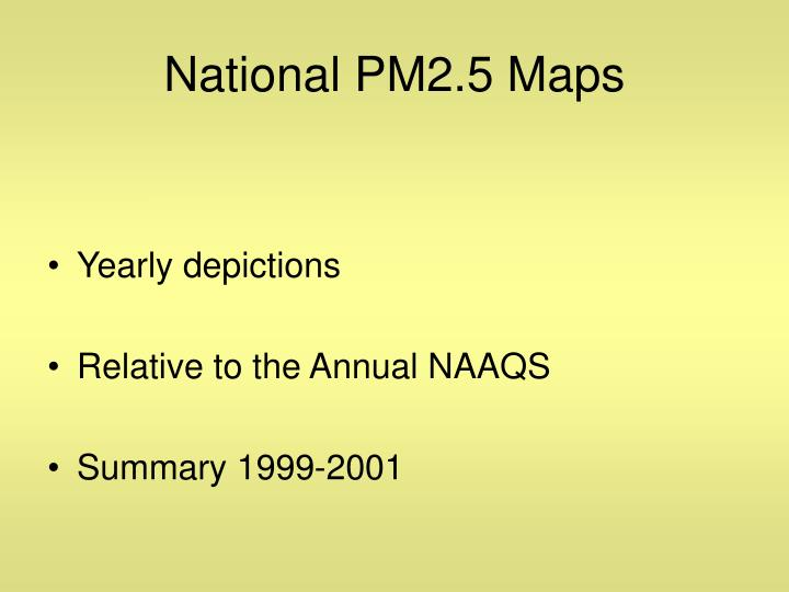 National PM2.5 Maps