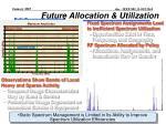 future allocation utilization