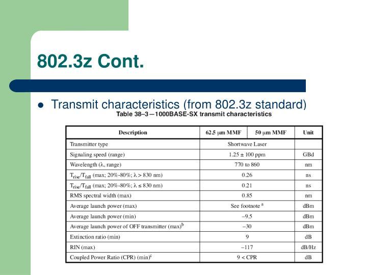 802.3z Cont.