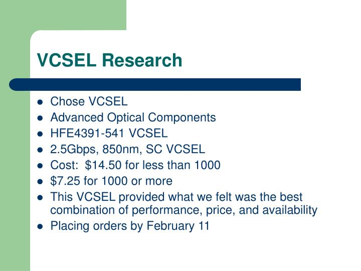 VCSEL Research