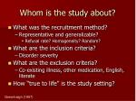 whom is the study about