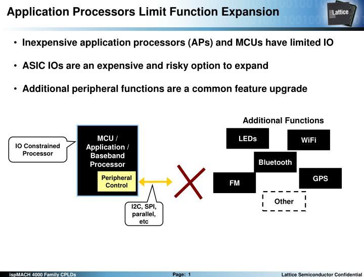application processors limit function expansion