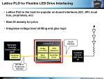 lattice pld for flexible led drive interfacing