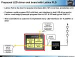 proposed led driver eval board with lattice pld