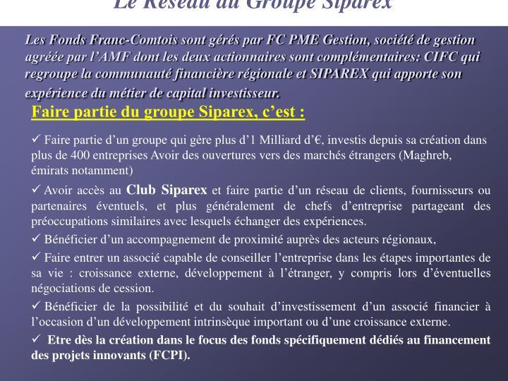 Le Réseau du Groupe Siparex